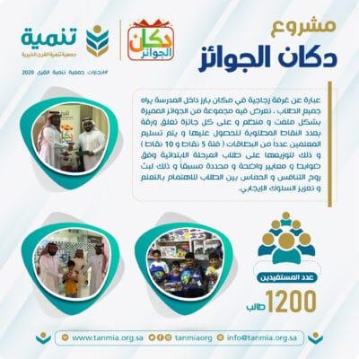 مشروع دكان الجوائز - جمعية تنمية القرى